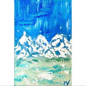 Mountain Painting ORIGINAL Art Blue Ridge Canvas